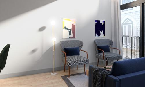 Render Alameda -Sala de estar 3